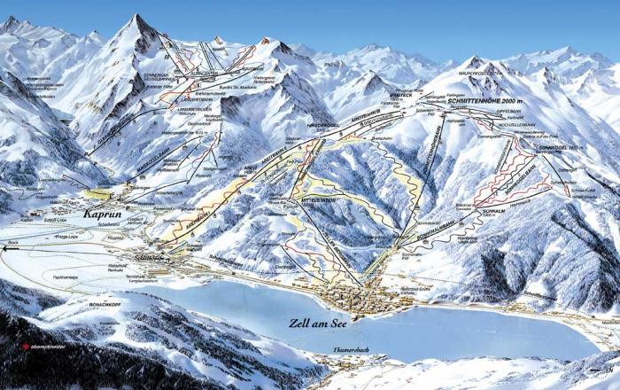 Горнолыжный отдых с вылетом из Казани.  Показать схему катания.  Экскурсионный и пляжный отдых.  Горные лыжи.